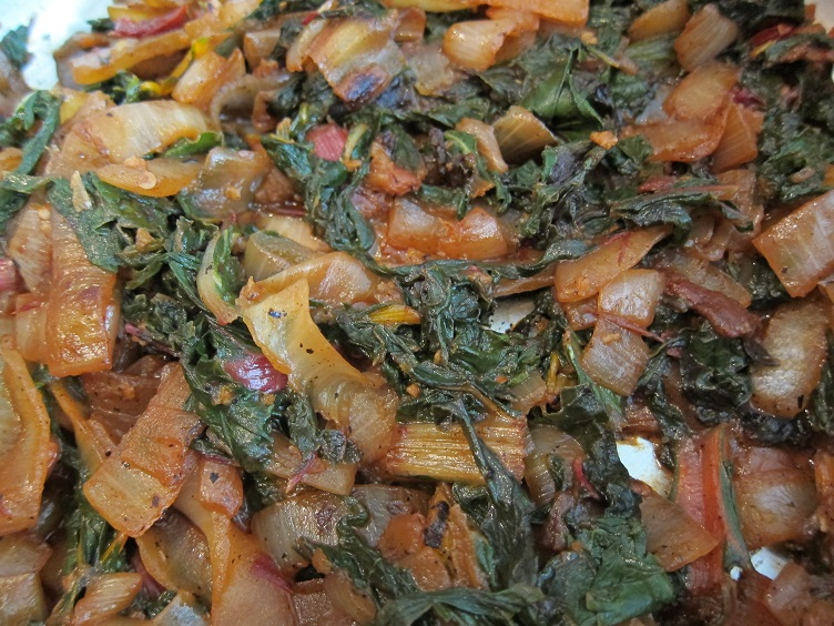 taco party - cooked chard
