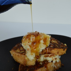 Coconut French Toast - Pouring Syrup