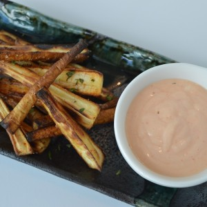Parsnip Frites - Plated