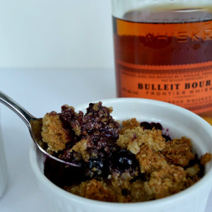 Blueberry Bourbon Crumble - Featured