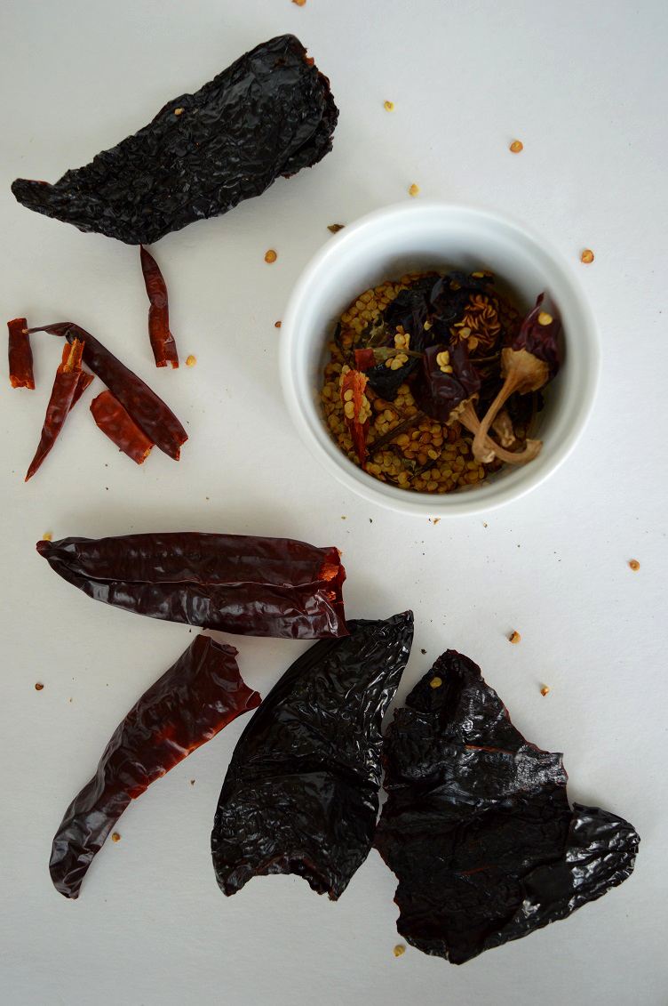 Mexican Lentil Soup - Deseeding
