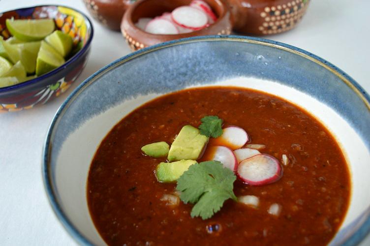 Mexican Lentil Soup - Soup Close Up