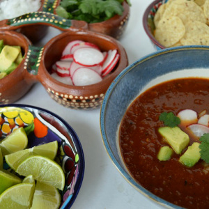 Faux Tortilla Soup - Spread Close Up