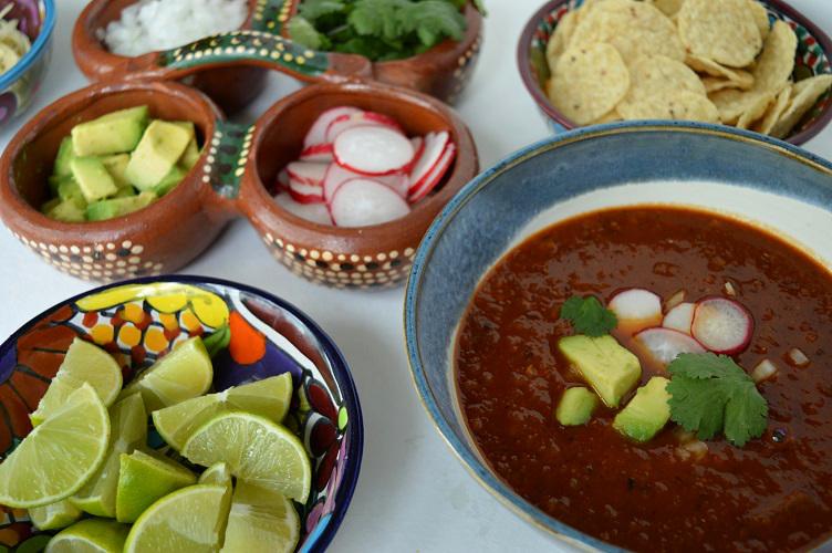 Mexican Lentil Soup - Spread Close Up