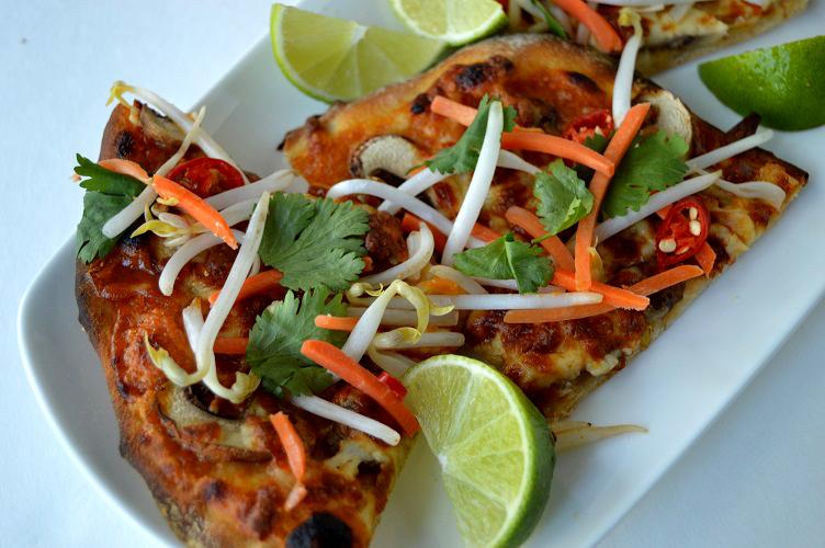 Thai Pizza - Close Up