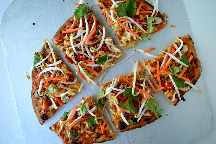 Thai Pizza - Cut