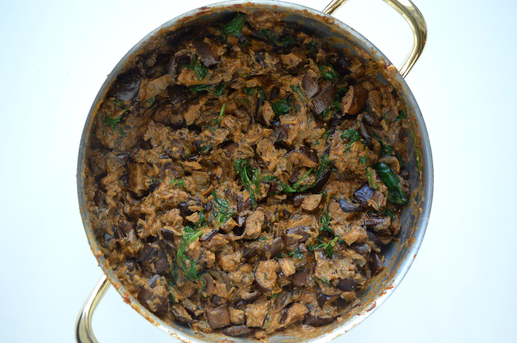 Curry Made Easy - Eggplant Spinach Curry