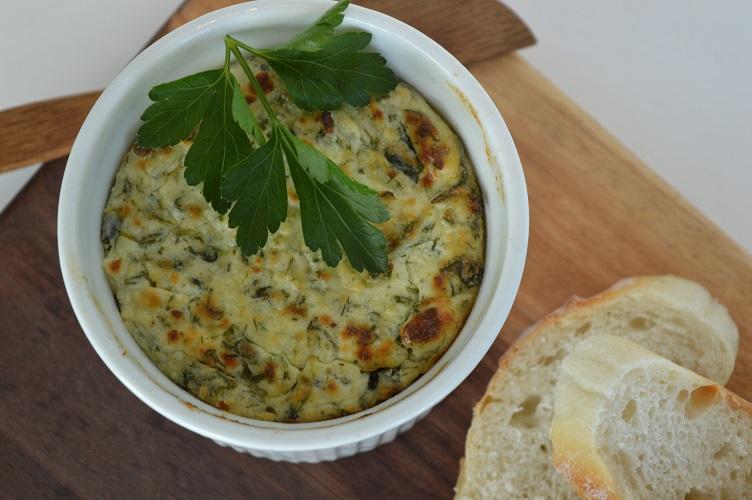 Spinach Feta Ricotta Dip - Baked